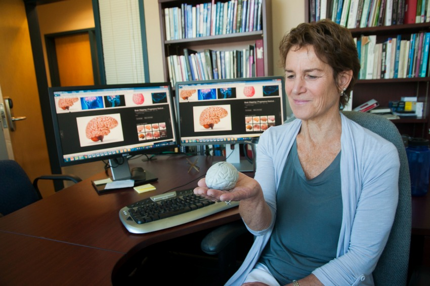 <who> Photo Credit: UBCO </who> UBC's Barbara Rutherford has been examining research that compares how both sides of the brain work together. And when they don't.