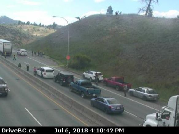 Vehicle Incident Impedes Traffic On Highway 1 Near Kamloops Reports