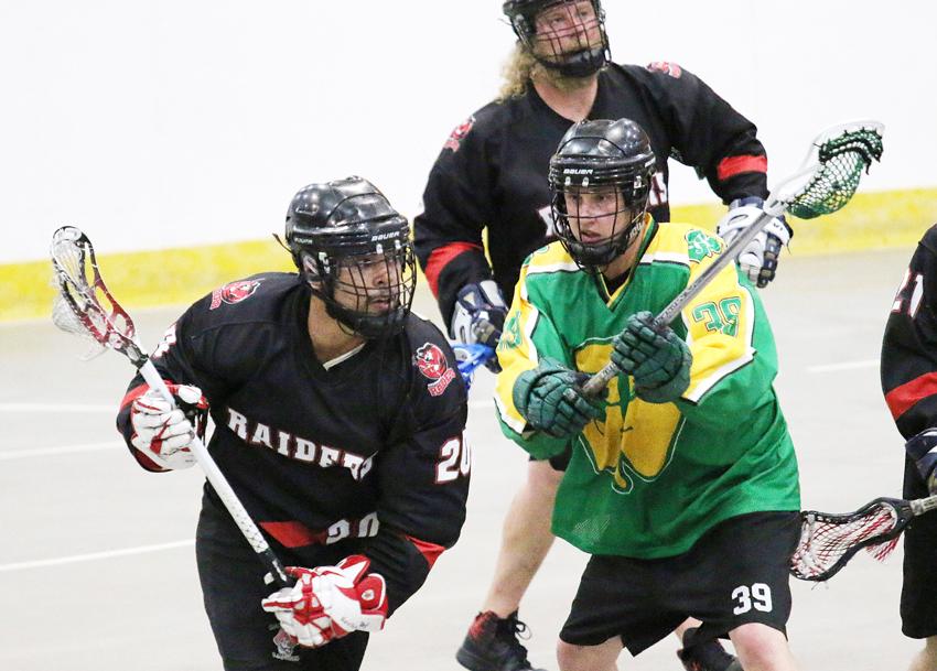 belsham backstops first win for senior lacrosse raiders