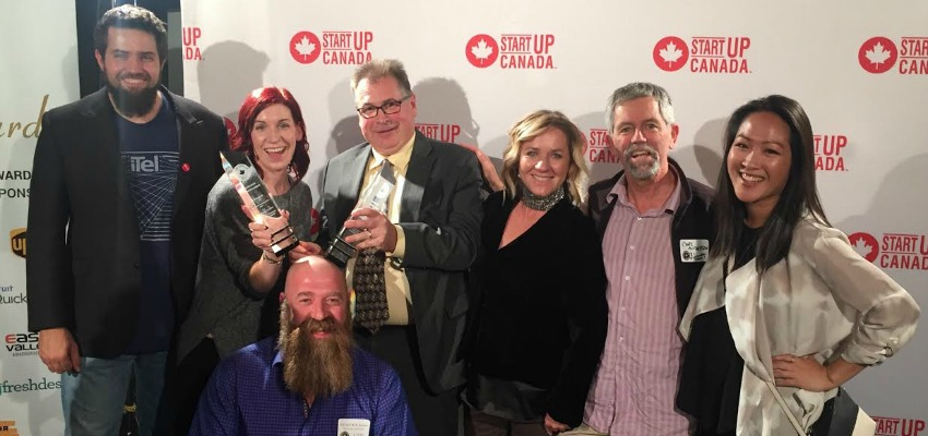 <who> The Kamloops crew at the Startup Canada Awards in 2016. Photo Credit: Kamloops Innovation</who>