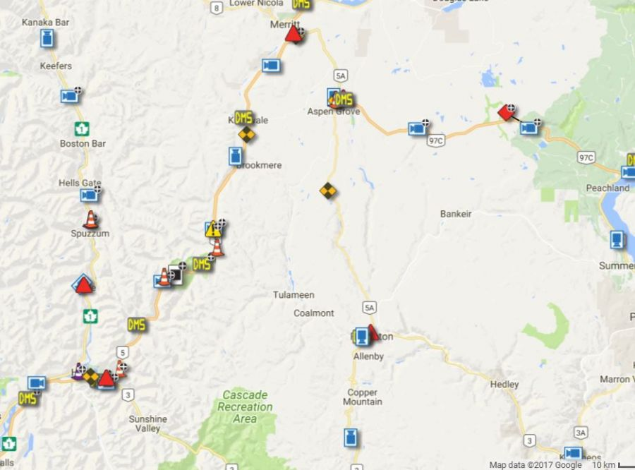 Snowfall warning in effect for Coquihalla Highway