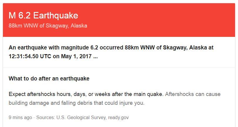 Quake rattles Alaska, Canada border area: USGS