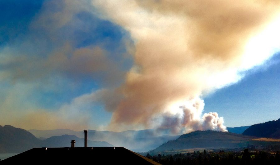 Finley Creek Wildfire burning near Peachland