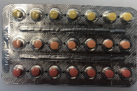 <who>Photo credit: Health Canada</who>Linessa 21 blister pack (all 21 pills contain hormones)