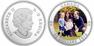 Commemorative royal family coin available in Canada