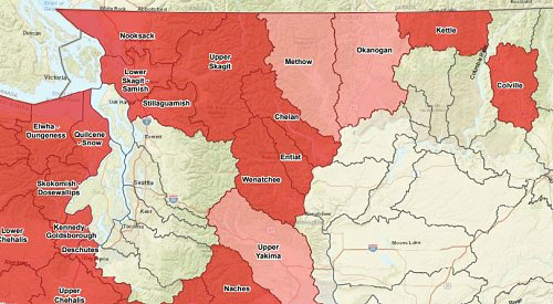 Washington's governor declares drought emergency in nearly half the state