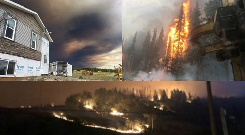Distressed community takes things into their own hands as wildfire threatens their livelihood