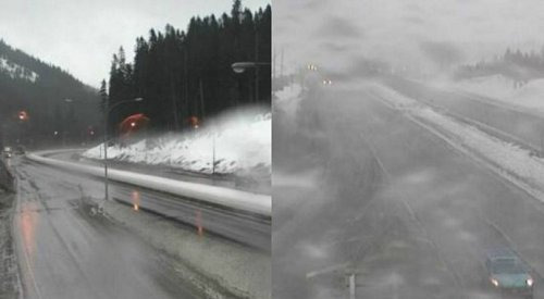 Snowfall warning for the Coquihalla and Connector