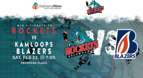 Contest Closed! Win two tickets to see the Rockets VS Kamloops Blazers