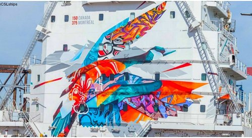 Four artists paint stunning mural celebrating Canada's 150th anniversary