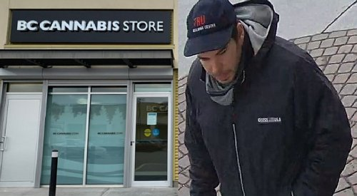 Okanagan Mounties searching for man who allegedly robbed cannabis store and assaulted the staff