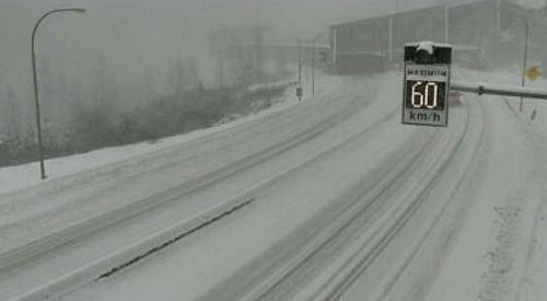 Snowfall warning ended for the Coquihalla