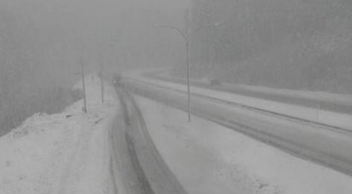 Snowfall warning in effect for Coquihalla
