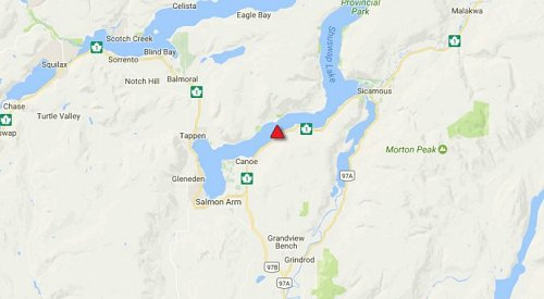 UPDATE: All lanes of HWY 1 are now open between Sicamous and Salmon Arm