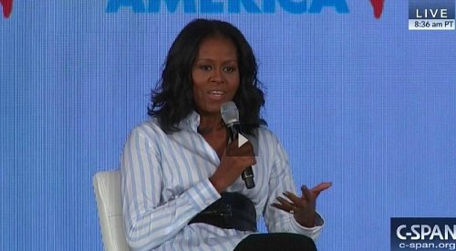 Michelle Obama asks Trump 'What is wrong with you?'