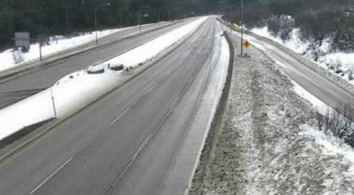 Snowfall expected on the Coquihalla