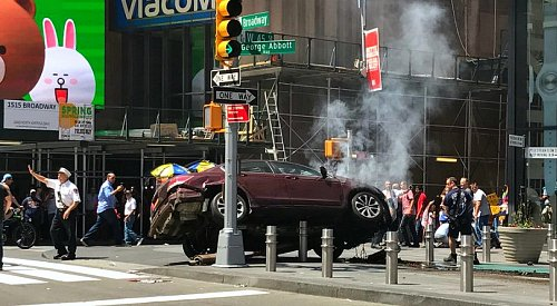 1 dead, 22 injured as car mows through Times Square